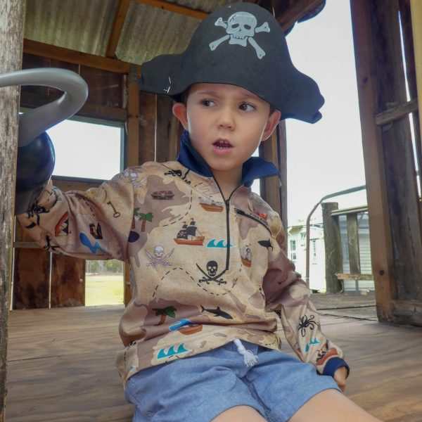 Pirates Treasure Sun Shirt Kids